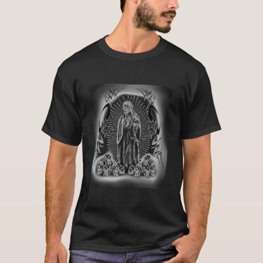 Tribal Skull Reaper with Skull PileT-shirt  Custom T-Shirt