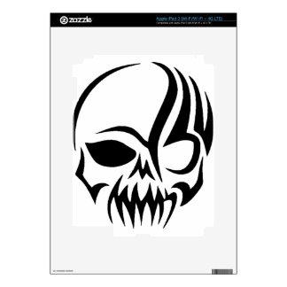 Tribal Skull iPad 3 Decal