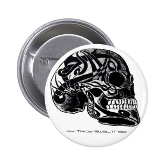 Tribal Skull w/ Tattoos button