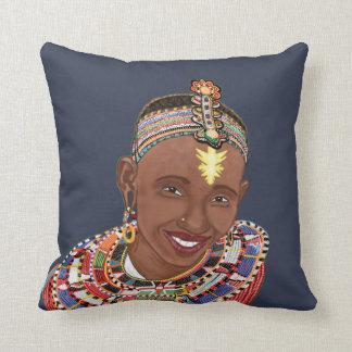 Tribal smile/Mistress Throw Pillow