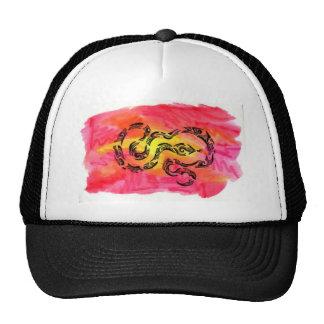 Tribal snake trucker hat