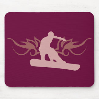 tribal snowboarding. mouse pad