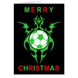 tribal soccer merry christmas cards