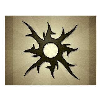 Tribal Solar Thorns Postcard