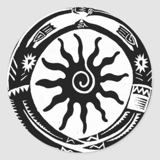 Tribal Souls of the Sun Classic Round Sticker