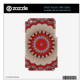 Tribal Southwest Vibrant Colored Pattern iPod Touch 4G Decal
