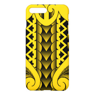 tribal spearhead pattern with realistic feathers iPhone 8 plus/7 plus case