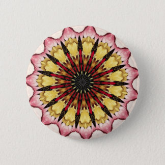 Tribal Spears and Fading Hearts Mandala Button