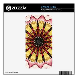 Tribal Spears and Fading Hearts Mandala iPhone 4 Skins