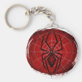 Tribal Spider Basic Round Button Keychain