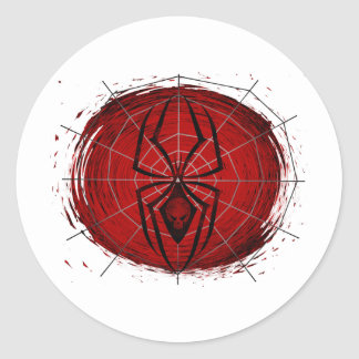 Tribal Spider Classic Round Sticker