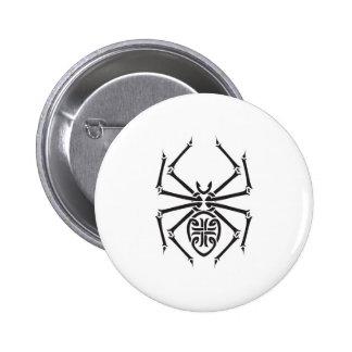tribal spider design pinback button