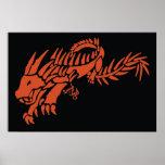 Tribal Spike Dragon Print