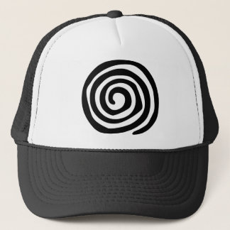 Tribal spiral petroglyph tribal art trucker hat