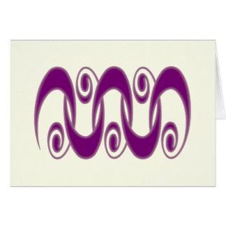 Tribal Spirals Greeting Card
