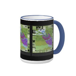 Tribal spirit  - Aftrican Art Ringer Coffee Mug