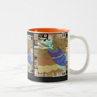 Tribal spirit  - Aftrican Art Two-Tone Coffee Mug