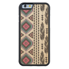 Tribal Spirit Maple Wood Iphone 6 Case at Zazzle