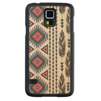 """Tribal Spirit"" Maple Wood Samsung Galaxy S5 Case Carved® Maple Galaxy S5 Case"