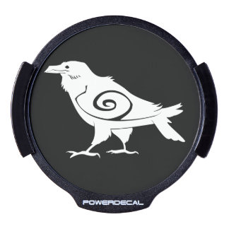 Tribal Spirit Raven Power Decal LED Window Decal