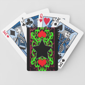 tribal star heart 1 bicycle playing cards