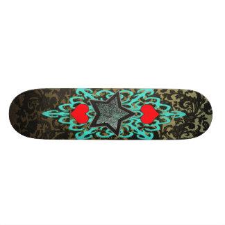 tribal star heart 2 skate board