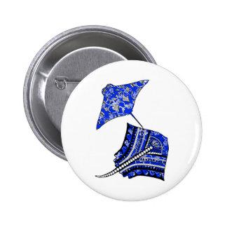 Tribal Stingrays Button