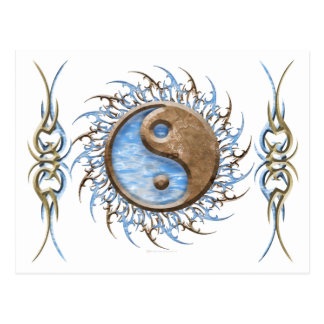 Tribal Stone & Water Yin Yang Post Cards