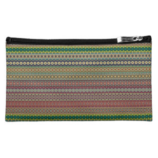 Tribal striped abstract pattern design cosmetic bag