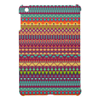 Tribal striped abstract pattern design cover for the iPad mini