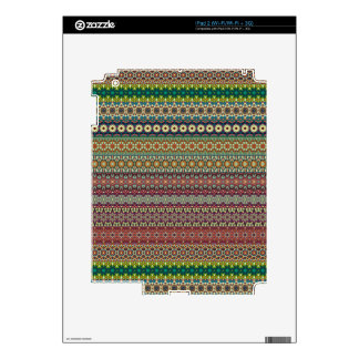 Tribal striped abstract pattern design iPad 2 skins