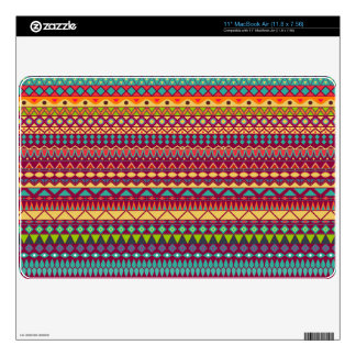 """Tribal striped abstract pattern design skins for 11"""" MacBook air"""