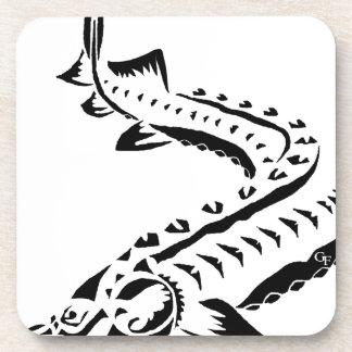 Tribal Sturgeon - Huso Beluga Beverage Coaster