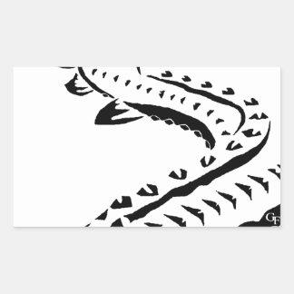 Tribal Sturgeon - Huso Beluga Rectangular Sticker