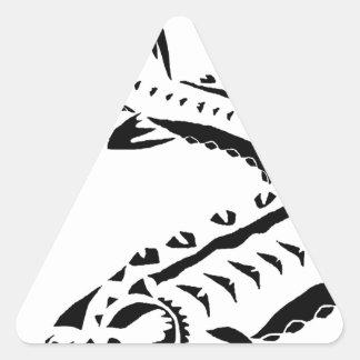 Tribal Sturgeon - Huso Beluga Triangle Sticker