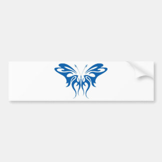 Tribal Style Butterfly Bumper Sticker