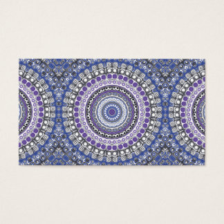 Tribal Style Mandala in Purple and Blue Business Card