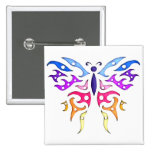 Tribal Style Pastel Butterfly Pins
