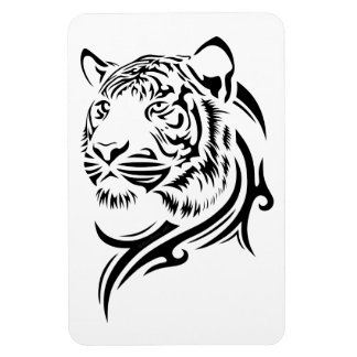Tribal Style Tiger Flexible Magnets