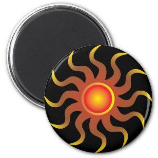 Tribal Sun 2 Inch Round Magnet