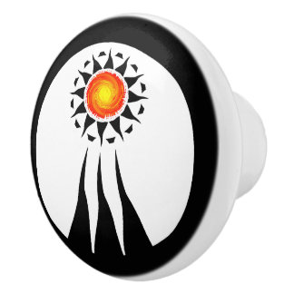 Tribal Sun and Rays 2 Ceramic Knob
