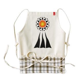 Tribal Sun and Rays Zazzle HEART Apron