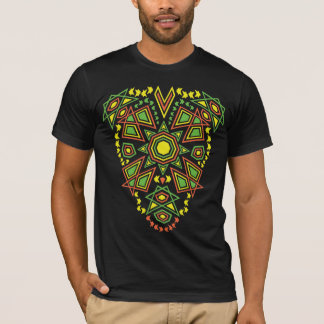 Tribal Sun Double Side Bright Print T-Shirt