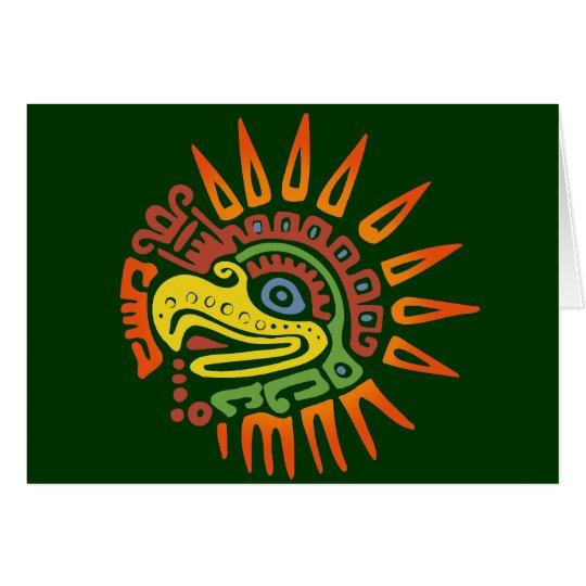 Tribal Sun Eagle Card