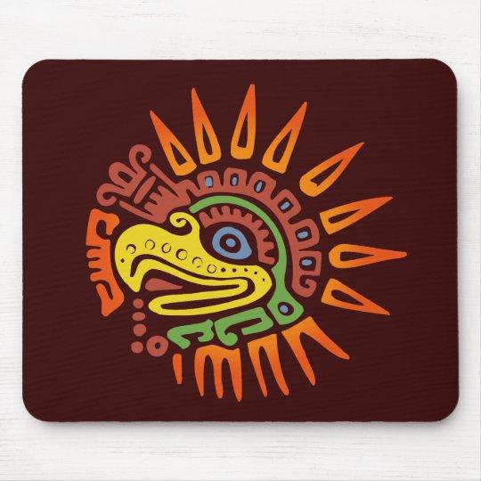 Tribal Sun Eagle Mouse Pad