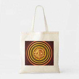 Tribal Sun Primitive Caveman Drawing Pattern Tote Bag