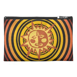 Tribal Sun Primitive Caveman Drawing Pattern Travel Accessory Bag