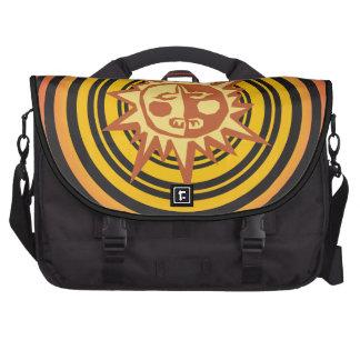 Tribal Sun Primitive Caveman Drawing Pattern Laptop Bag