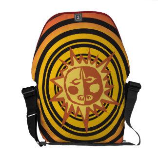 Tribal Sun Primitive Caveman Drawing Pattern Messenger Bag