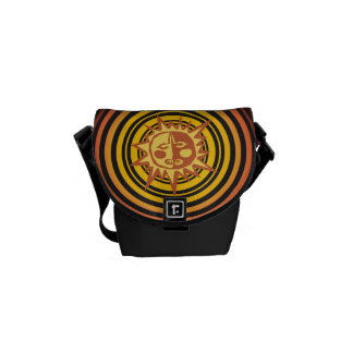 Tribal Sun Primitive Caveman Drawing Pattern Messenger Bags